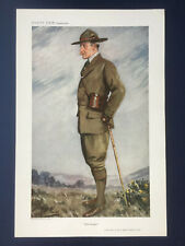 Original 1911 Vanity Fair Print of Robert Baden-Powell - The Boy Scouts Founder