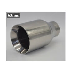 New 1pcs 63mm Chrome Stainless Steel Rear Exhaust Tail Muffler Tip Thickened