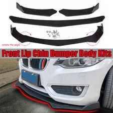 Universal Front Bumper Lip Chin Spoiler Splitter For Car Truck SUV Black 3PCS