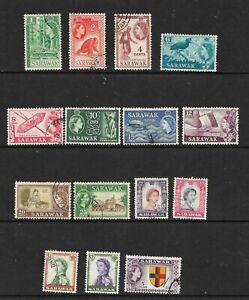 Malaya Sarawak 1955 definitive set fine used
