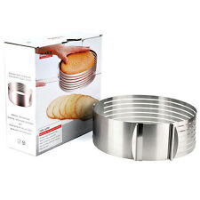 430 Stainless Steel Round Mousse Cake Ring Mold Layer Slicer Cutter Adjustable