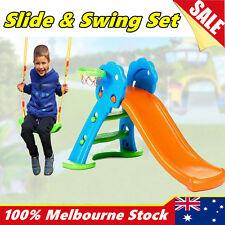 Toddlers Kids Play Slide Swing Set Basketball Hoop Playground Indoor Outdoor