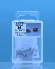 P & D Marsh PDC80 Picnic Tables & Figures 'N' Gauge Unpainted White Metal Kit
