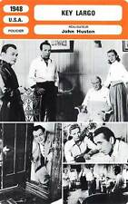 FICHE CINEMA : KEY LARGO - Bogart,Robinson,Bacall,Huston 1948