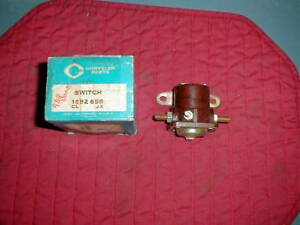 NOS MOPAR 1956-60 START SOLENOID SWITCH W/ MANUAL TRANS