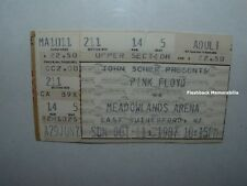 PINK FLOYD Concert Ticket Stub 1987 MEADOWLANDS ARENA NJ NY David Gilmour RARE