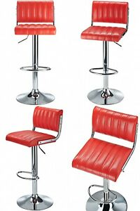 Vintage Bar Stool Swivel High Chair American Diner Retro Kitchen Counter Seat UK