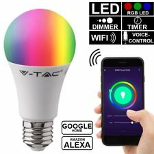 RGB LED Smart Home 11w bombilla regulable e27 control de idioma Alexa Google App
