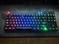 Logitech G Pro Gaming Keyboard Romer-G Switches RGB Missing Right CTRL Keycap.