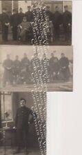 Lot van 3 Fotokaarten Harderwijk Belgische Soldaten WO 1 1915