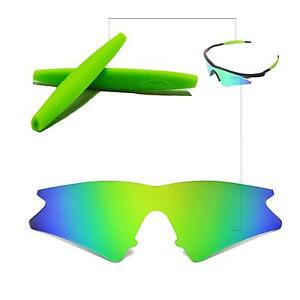 Walleva Polarisé Émeraude Lentilles Rechange + Earsocks Pour Oakley M Frame