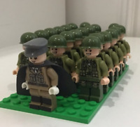 21PCS Minifigures Army Soldier Military US Soldiers Gun Weapon Backpack Lego MOC