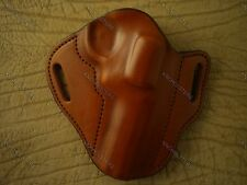 """S&W L frame 4"""" Revolver Custom Leather Gun Holster Right Hand Tan Made in USA"""