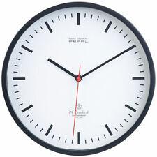 Wanduhren: Analoge Wand-Bahnhofsuhr mit schleichendem Quarz-Uhrwerk, Ø 22,5 cm