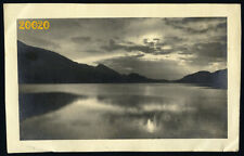 Larger size Vintage Photograph, amazing landscape w water reflection, signed,