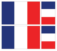 4 X FRENCH FLAG VINYL CAR VAN IPAD LAPTOP STICKER FRANCE