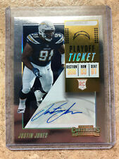 2018 Panini Contenders #141 Playoff Ticket Auto JUSTIN JONES /99