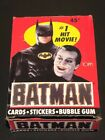 1989+TOPPS+BATMAN+Series+1+Red+Movie+Trading+Card+Wax+Pack+Box+36+packs