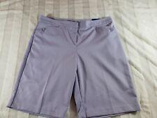 Womens Izod Perform X Cool FX Stretch Lavender Lilac Purple Golf Shorts 10 NWT