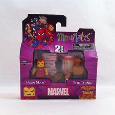 Nuevo 2012 V Marvel ✧ Iron Man La cosa ✧ Serie Minimates 2-Pack 1 MIB
