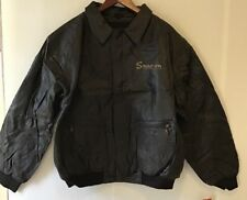 Snap On Leather Er Jacket Mens Large Dark Brown Quilted Full Zip Bin Ss