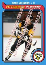 1979-80 TOPPS OPC O Pee Chee Custom Mark Johnson Pittsburgh Penguins NHL #650