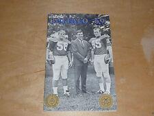 1969 BUFFALO STATE BULLS COLLEGE FOOTBALL MEDIA GUIDE  NEAR MINT BOX 9
