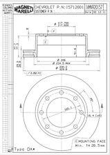 Disc Brake Rotor-LS Rear Magneti Marelli 1AMVR20157