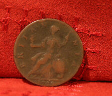 1749 Great Britain 1/2 Half Penny World Coin Britania Seated UK England RARE