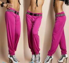 Sexy Miss Femme Girl Jogger Hanche Pantalon Sport Jogging Raff Bund Rose XS-S