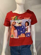 Cross Colours Tlc 1992 Short Sleeve T-Shirt Vintage Tee 90s Hip Hop Shredded S/M