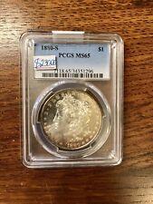 Silver Morgan 1 Dollar. 1880-S PCGS MS65 Graded! Real 100% Guarantee!