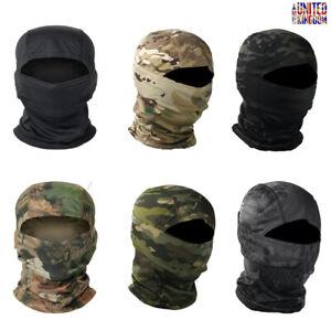 Tactical Camo Balaclava Full Face Mask Scarf Paintball Airsoft Neck Headgear UK