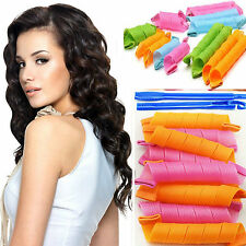 DIY 18pcs/set Hair Styling Roller Magic Circle Curler Leverag Stick Spiral Curls