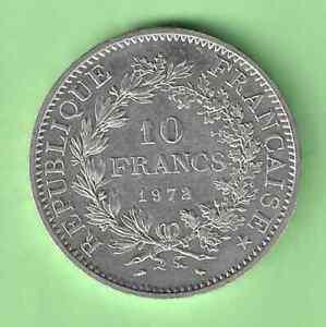 WPR7  FRANCE         10  FRANCS  HERCULE  1972      ARGENT  ASSEZ RARE