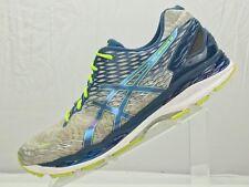 Asics Gel Nimbus 18 Running Sneakers- Training Silver/Blue Athletic shoe Mens 13