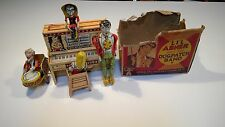 1940's  Unique Art LI'L ABNER & His Dogpatch Band Tin Wind Up Toy box