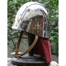 18GA Steel Medieval BYZANTINE HELME Knight Armor Helmet With Leather Liner YZ400