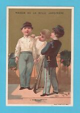 MILITARY  -  BELLE  JARDINIERE  -  CHILDREN  AS  MILITARY  CARD  ( A ) -  C 1900