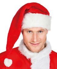 Weihnachtsmütze mit Plüschoptik NEU - Karneval Fasching Hut Mütze Kopfbedeckung