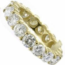 2.87 ct Diamond Eternity Wedding Ring 18K YellowGold Band G-H color Si1 clarity