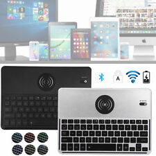 Slim 7 Colors Backlight Bluetooth Keyboard Keypad with Wireless Charging Charger
