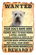 Soft Coated Wheaten Dog Wanted Poster Flex Fridge Magnet Personalize Name