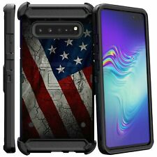 American Flag Full Body Armor Holster Belt Clip Cases For Samsung Galaxy Phones