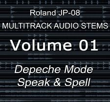 Roland JP-08 multipiste Audio Tiges Vol.1 Depeche Mode-Speak & Spell