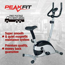 PeakFit PF620 New Upright Exercise Bike Magnetic Resistance Home Gym Fitness
