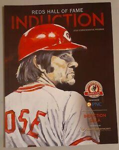 pete rose Cincinnati Reds HOF induction Program