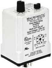 Relé de retardo de tiempo MACROMATIC TR-60622, 120VAC/DC, 10A, Doble Polo de doble tiro