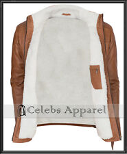 Men's Designer Fashion Brown Fur Lined Soft Warm Winter Leather Jacket - SALE