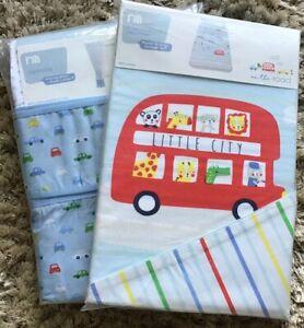 Mothercare On The Road Curtains & Tie Backs 168cm X 137cm & Duvet Cover Set 🚗